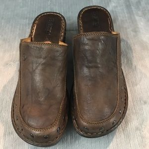 Born Marley Mules chocolate brown size 8 US 39 EUR